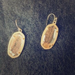 Kendra Scott  'gold 'and gold druzy earrings